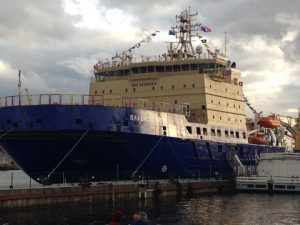 Icebreaker Vladivostok, Naberezhnaya Leitenanta Shmidta, St. Petersburg, 23 September 2015