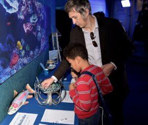 Sweet tasters at Southampton Boat Show's Aquarium