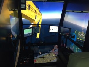 The new Class A offshore crane simulator, installed in the training center, is the first of its kind in the Arab world for local operators to obtain offshore crane training.