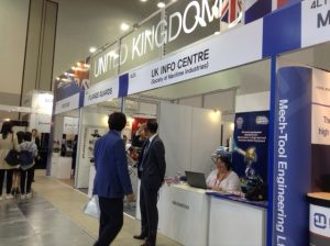 The United Kigdom Pavillion with the Society of Maritime Industries stand