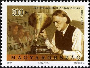 Zoltán Kodály pictured on 2007 postage stamp.