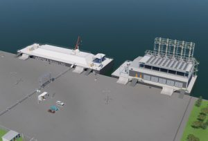 The Wärtsilä Mobile LNG can easily be combined with a barge-mounted power plant having an output capacity of up to 250 MW.