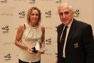 Alessandra Sensini with ISAF President Carlo Croce