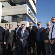 from left to right: Andreas Pagalos, Nikolaos Kakalis, Aristidis Efstathiou, George Teriakidis, Ioannis Chiotopoulos, Dimitris Dedepsidis, Ioannis Kourmatzis, Dimitris Sariklis, Stelios Kasotakis.