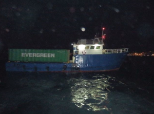 The m/v Rosetta with the containers onboard carrying contraband cigarettes