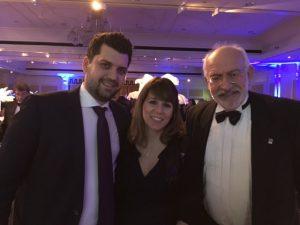 Alexandros and Yanna Petinari with John Faraclas
