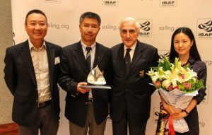 ISAF President Carlo Croce, ISAF Vice President Quanhai Li with conference organisers