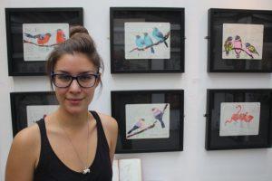 Fran Giffard and brilliant-hued bird drawings.