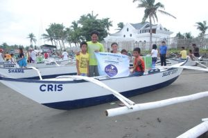 The beneficiary family of a Sailors' Society funded boat