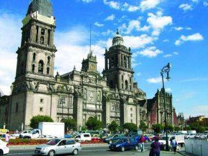 The historic Zocalo (main square), Mexico City.