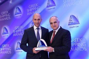 George M. Logothetis receiving his award