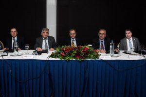 l to r: Goerge Andreadis, Lambros Chahalis, Antony D. Faraklas, Anastassios Angelopoulos and John Kokarakis