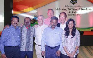 Anil Menon, Director of GAC India, Shashi Nair, Consultant of GAC India, Paul Haegeman, Managing Director of GAC India, Andrew Leach, Group Vice President, Legal & Compliance of GAC Group, Roy Mathews, Chairman of GAC India, Lars Safverstrom, Co-Chairman of GAC Group and Miriam Mathews, Director of GAC India