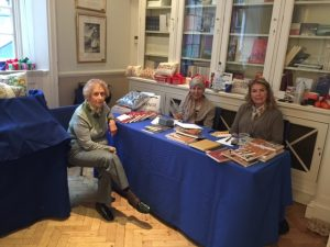 The diaries and cards-gits stall...