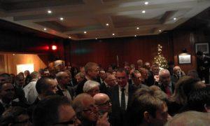 A full house listening to Andreas A. Tsavliris speech