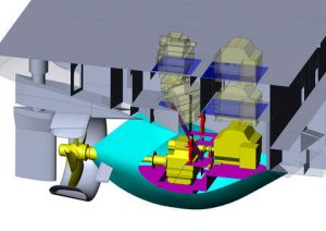 The twin fin propulsion system from Caterpillar was recognized as the Commercial Application of the Year  at the 17th annual Platts Global Energy Awards