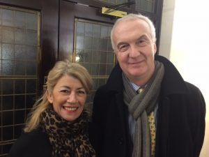 One of the first to arrive was Lloyd's Register Marine Manager Tom Boardley and Anny Zade from allaboutshipping.co. uk