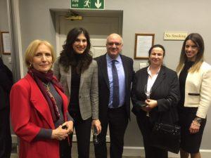 Dr. Aleka Mandaraka-Sheppard, Agapi Tarzis, Kostas Amarantides and Asprogiannidou