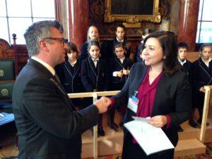 Theodossis Stamatelos LR's EMEA cordially congratulating the head teacher/musician