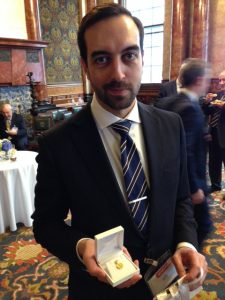 The lucky punter  Stylianos Papageorgiou of LOMAR