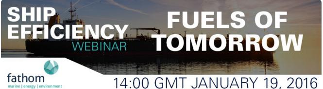 Ship efficiency webinar 19 JAN 2016