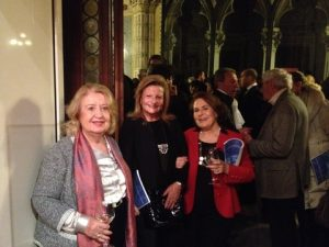 Curator and art critic Emmy Varouxakis with Niki Michailidou and Andriani Markianou