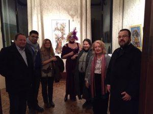 J. Bastakos, Dr. Rarakos, Dimitra Moutzouris, Emmy Varouxakis and hte Rev. Father Ev. Yphantidis of the Greek Orthodox Church in Venice