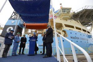 Maersk Connector handover ceremony