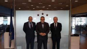 l to r: Eduard Rodés, Antonio M. Padrón and Antonio Vargas