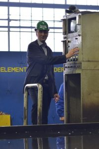 Another picture from the steel cutting ceremony