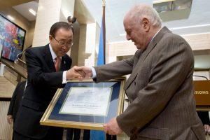 Secretary-General Ban Ki-moon (left) and Daniel Barenboim. UN Photo/Jean-Marc Ferré