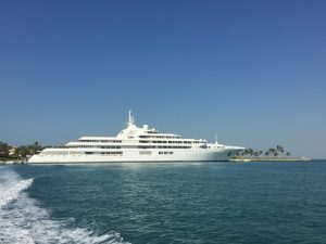 DUBAI, classed as a luxury mega yacht, is 162m long; designed by Winch Design and will sail under the UAE flag. DUBAI is ranked as being the third largest and most luxurious mega yacht in the world today. Managed by Platinum Yachts.