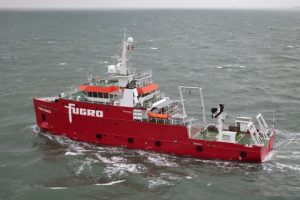 Fugro Pioneer will perform geophysical surveys, mapping seabed characteristics and sub-surface soil conditions at the Hollandse Kust (zuid) Wind Farm Zone
