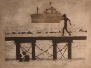 Depina Symeou. Walking on the pier