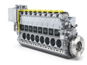 Library picture of the Dual-Fuel engine type 8L51/60DF