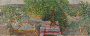 Resting in the Garden (Sieste au jardin), 1914. By Pierre Bonnard. National Museum of Art, Architecture and Design, Oslo. Photo (c) the museum, (c) ADAGP, Paris and DACS, London 2015.
