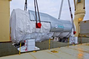 Rickmers-Linie was entrusted with the transport of this 485 -tonne gas turbine made by Siemens for a power plant project in Turkey.
