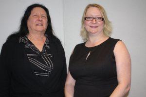 Prof Ruth Taplin (left), and Helen Dalziel of the IUA.