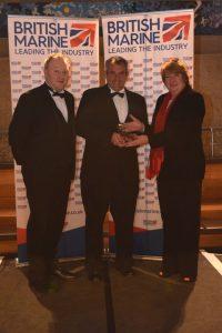 Training & Development - L-R Steve Caunter & Andy Wright Noss Marine Academy & Fiona Pankhurst British Marine
