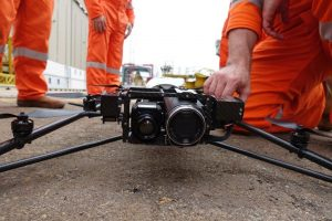 UAS in preparation before flight. Picture credits SkyFutures