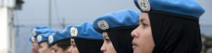 Malaysian women peacekeepers of the UN Interim Force in Lebanon (UNIFIL) at a medal ceremony in Kawkaba, south Lebanon. UN Photo/Pasqual Gorriz