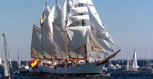 The JUAN SEBASTIAN DE ELCANO, Training Ship of the Spanish Navy