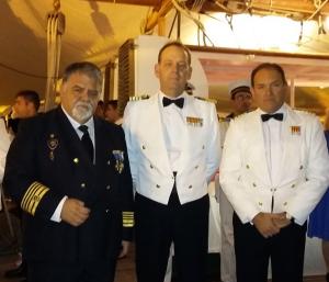 l to r: Capt. Antonio M. Padrón, NC Victoriano Gilabert and NC Luis M García