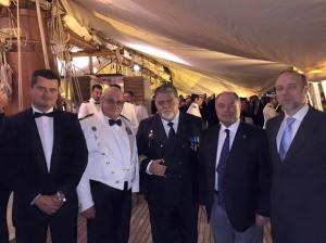 Capt. Juan A. Rojas, Sr. José L. Domínguez, Capt. Antonio M. Padrón, Dr. Antonio Burgos and Prof. Nicolás Marichal