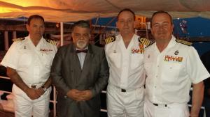 l to r: NC Luis M García, Capt. Antonio M. Padrón, NC Victoriano Gilabert and Rear Admiral Juan L. Sobrino