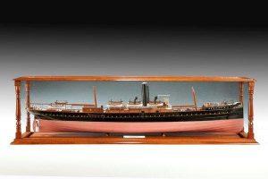 Shipbuilder's model of SS Fusilier. Courtesy Anderson Wallrock.