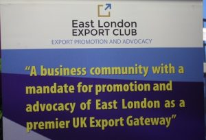 East London Export Club banner.