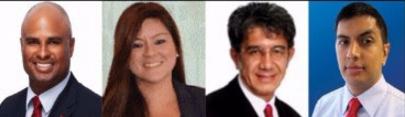l to r: Jereme Ramsay, Giulianna Molero Solari, Eduardo Fox and Andres Carmona