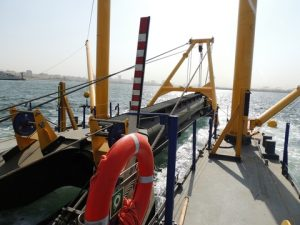 Cutter ladder and fore pontoons of the CSD450
