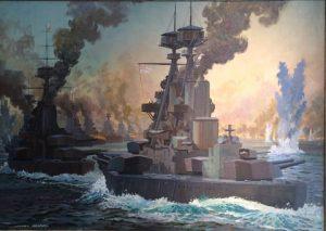 The Battle of Jutland. By Norman Howard. Courtesy of Darnley Fine Art.